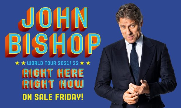 John Bishop is coming to the City of Discovery as part of his world tour.