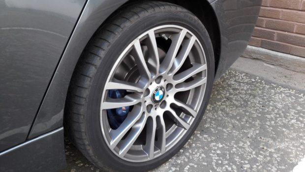 An example of a premium car tyre.