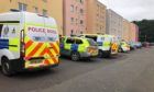 Police carried out raids at various locations in Dundee in a major drugs operation, including this one at Yeamans Lane.