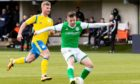 Marc McNulty in action for Hibs against BSC Glasgow last season.