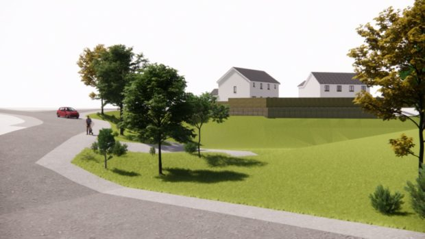 Plans for 34 new houses at Aberlady Crescent have been approved.