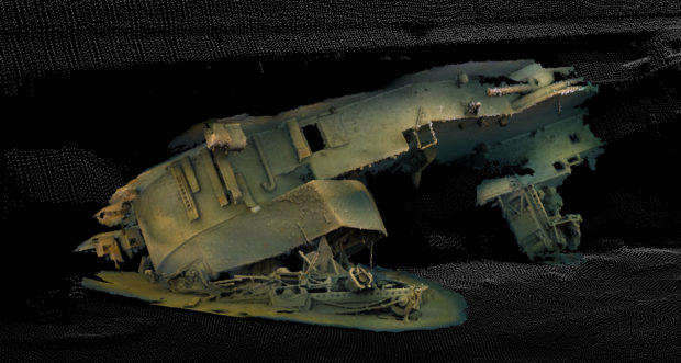 3D imagery of the boat's turret. Photo courtesy of the Univeristy of Dundee.