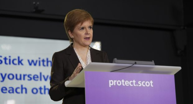 Nicola Sturgeon has made it clear that large gatherings should not be taking place.