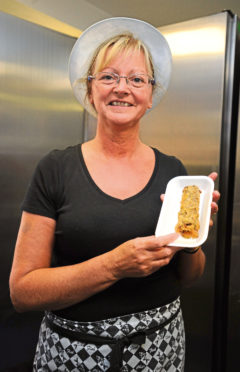 Manager of the Carron Chip Shop, Lorraine Watson.