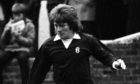 Dundee's Gordon Strachan in action at Ayr United.