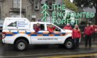 The Enchanted Forest Community Trust approached the team for practical assistance in the siting of technical kit to run a night sky laser show around Pitlochry in return for a donation.
