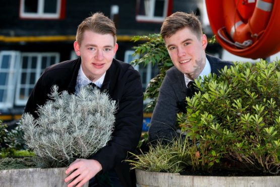Two church missionaries, Carter Dixon, 20, and Luc Duez, 19,  are offering their services during lockdown to anybody who needs help with their garden in and around Dundee.