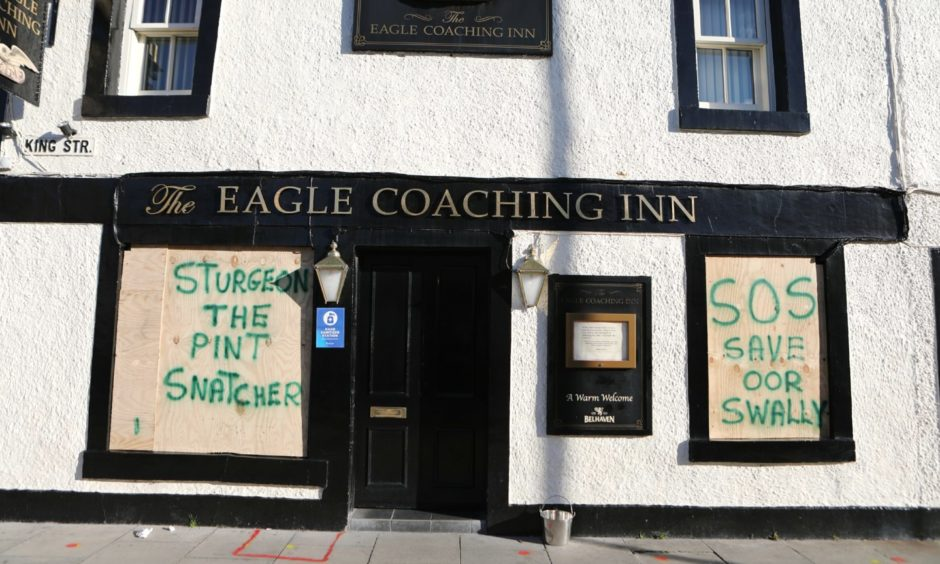 The Eagle Coaching Inn in Broughty Ferry.