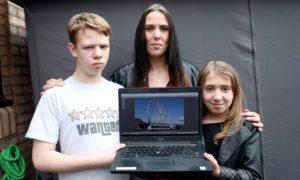 Samantha McGovern with her kids Tyelor & Kaydee.