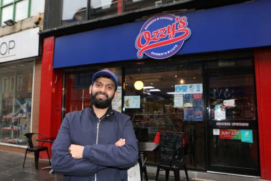 """Usman """"Ozzy"""" Hyatt at his café."""