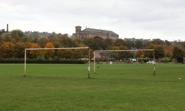 Riverside football pitch.