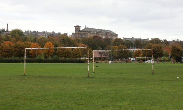 Riverside football pitch.