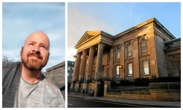 Greg Baxter was found guilty at Dundee Sheriff Court.