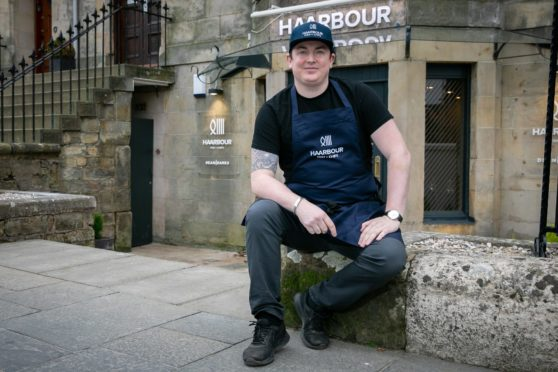 Dean Banks outside his new restaurant, Haarbour.