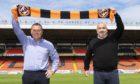 Dundee United boss Micky Mellon alongside sporting director Tony Asghar.