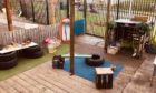The outdoor all-weather classroom at Rugrats Private Nursery. Haddington Gardens, Dundee.  Courtesy of Rugrats Nursery,