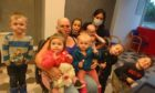 Sheonagh Tait, pictured with her grandchildren in the salon