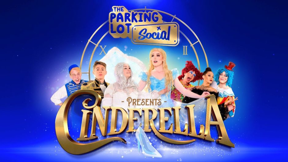 The Parking Lot Social's drive-in panto, Cinderella poster.