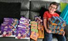 Jamie watson with some of the goodies to hand out to help the homeless in Dundee. Photo supplied.