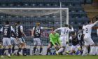 Raith Rovers' Frankie Musonda (No 14) equalises late in the second half to deny Dundee victory.