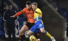 Calum Butcher, left, in action against St Johnstone's David Wotherspoon.