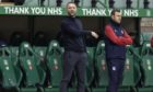 Dundee manager James McPake at Easter Road.