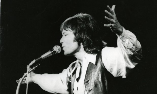 Sir Cliff Richard performs in concert on the stage of the Caird Hall, Dundee.