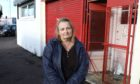 Siobhan Tolland at the scene of the break-in at the Dundee Thegither foodbank.