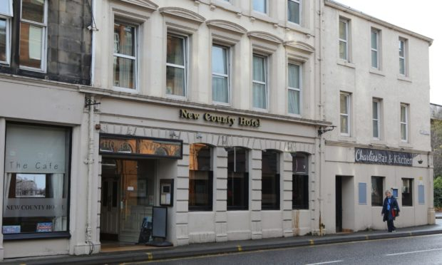 The incident, which took place at the New County Hotel on County Place took place at around 7.30am on Tuesday morning.