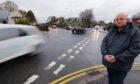 Councillor Kevin Keenan at the junction.