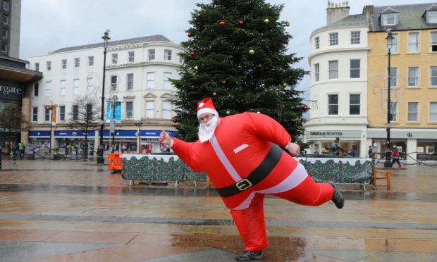 ARCHIE Committee Member, Mike Kemp, warming up at the launch of the Virtual Santa Dash.