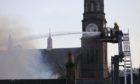 Fire crews battle the blaze in Forfar.