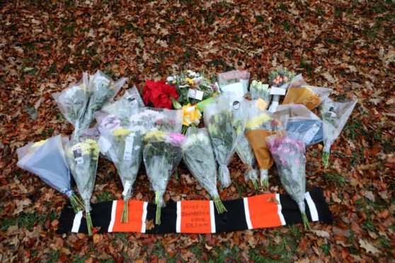 Flowers were left near to the scene of the accident by a number of people. Photo by Gareth Jennings/DCT Media.