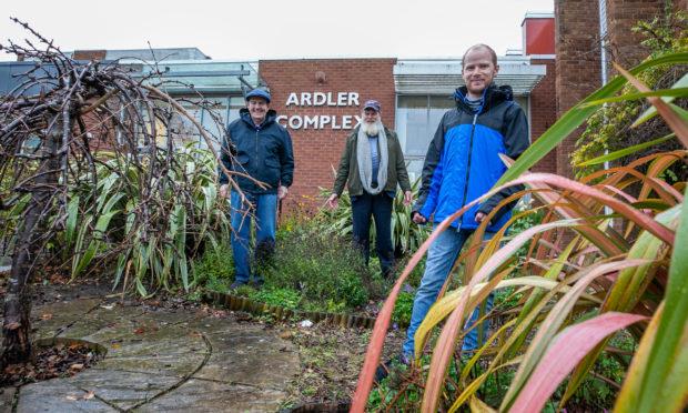 Three of the members of the Ardler Environment Group - l to r - Bill Farnan, Graham Cross and Kris Stevenson.