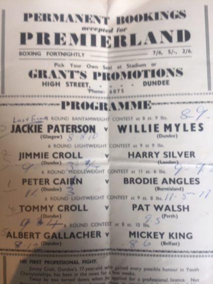 Premierland boxing programme.