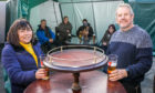 Stag Head Inn licencees Jackie Liddell and husband Kevin in the beer garden in Carnoustie. Photo by Steve Brown/DCT Media.
