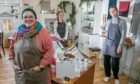 Christina Vernon, Islay Spalding and Ieva Jankovska in the store.