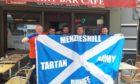 The Menzieshill Tartan Army in Brussels.