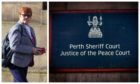 Jennifer Wilson outside Perth Sheriff Court. Photo courtesy of Perthshire Picture Agency,