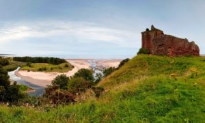 The ruin of Red Castle above Lunan Bay, near Montrose.