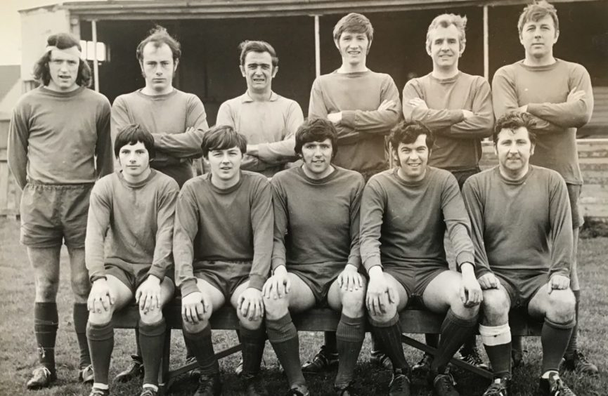 This is the Sherbrook Rovers team which played friendlies on Sunday mornings in the late 1960s.