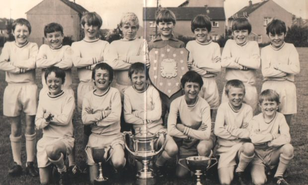Dundee St Clement's Primary School football team of 1971-72.