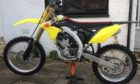 The yellow Suzuki RZM 250cc dirt bike was stolen from Moredun Square in Perth sometime between 1.30am and 8.30am on Thursday November 19 2020.  Supplied by Police Scotland