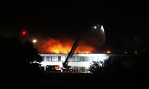 Braeview Academy on fire in 2018,