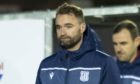 AYR, SCOTLAND - NOVEMBER 21: Dundee Manager James McPake looks dejected after their defeat in the Scottish Championship 2-0 match between Ayr United and Dundee at Somerset Park, on November 21, 2020, in Ayr, Scotland (Photo by Mark Scates / SNS Group)