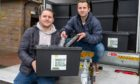Ryan Russell and Ali Smith hope to feed the community as they recycle, donating 10% of their Doorstep Glass Recycling profits to Dundee Foodbank.