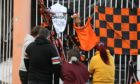 Fans pay tribute at Tannadice  of the passing of former Dundee United manager Jim McLean.