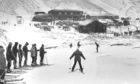 Skiers enjoying Glenshee in January 1970.