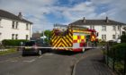 The scene of a fatal fire in, Forthill Drive, Broughty Ferry, earlier this year.