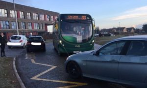 The bus was travelling along Lothian Crescent at the time of the incident.
